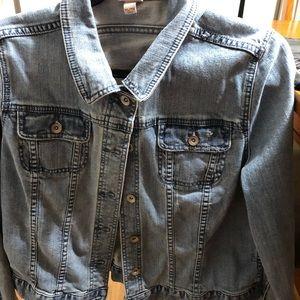 EUC Merona Distressed Denim Jacket Size XL 💕💕